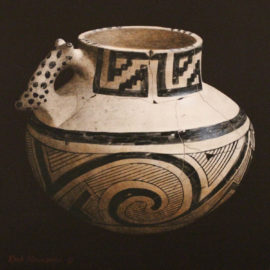 mesa_verde_black_and_white_pitcher-rock_newcomb-legacy_gallery